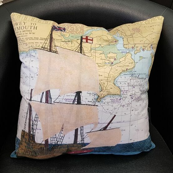 Hannah Wisdom Plymouth Mayflower Cushion