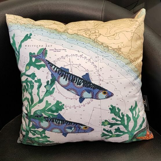 Hannah Wisdom Whitsand Mackerel Cushion
