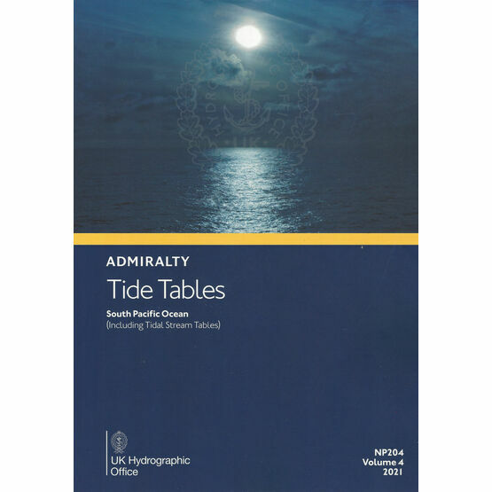 Admiralty NP204 Tide Tables 2021: South Pacific Ocean (Including Tidal Steam Tables)