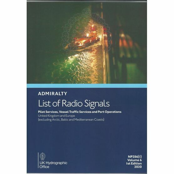 Admiralty NP286(1) List of Radio Signals Vol 6 1st edition