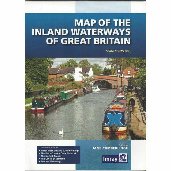 Imray Map of Inland Waterways of Great Britain