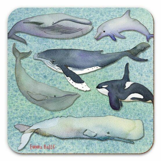 Emma Ball Whales Single Coaster