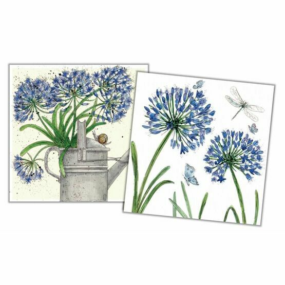 Emma Ball Agapanthus Mini Note Cards (Pack of 10)