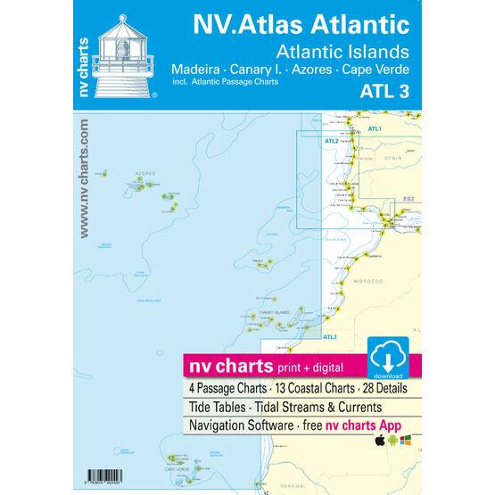NV Atlas Atlantic ATL 3 Charts - Atlantic Islands (Madeira - Canary Islands - Azores - Cape Verde)
