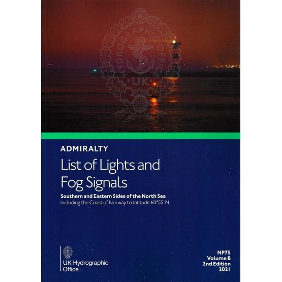 NP75 Admiralty List of Lights and Fog Signals Southern and Eastern sides of the North Sea