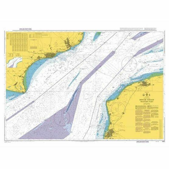 1892 Dover Strait - Western Part Admiralty Chart