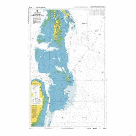 AUS62 Approaches to Varanus Island Admiralty Chart