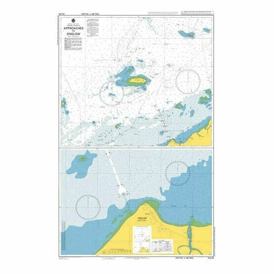 AUS64 Approaches to Onslow Admiralty Chart