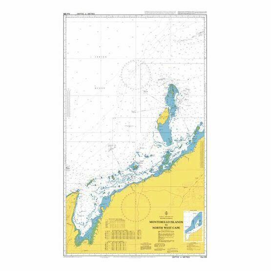 AUS328 Montebello Islands to North West Cape Admiralty Chart