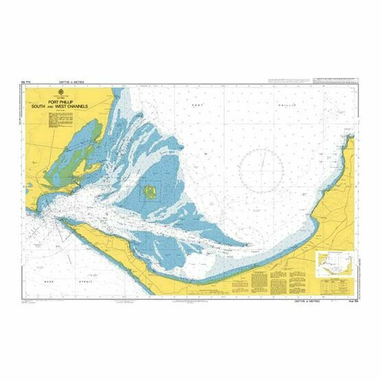 AUS158 Port Phillip, South West Channels Admiralty Chart