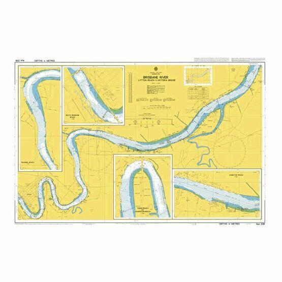 AUS238 Brisbane  River - Lytton Reach to Victoria Bridge Admiralty Chart
