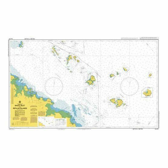 AUS251 Bailey Islet To Rpulse Islands Admiralty Chart