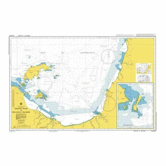 AUS303 Nsssau River to Wellesely Island Admiralty Chart