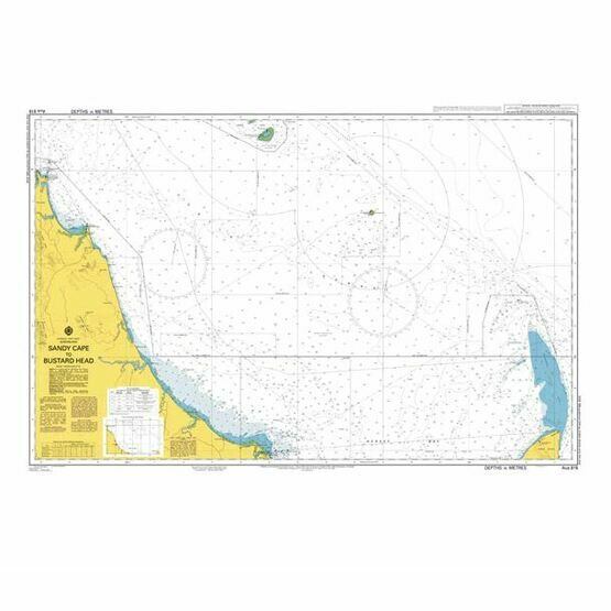 AUS818 Sandy Cape to Bustard Head Admiralty Chart