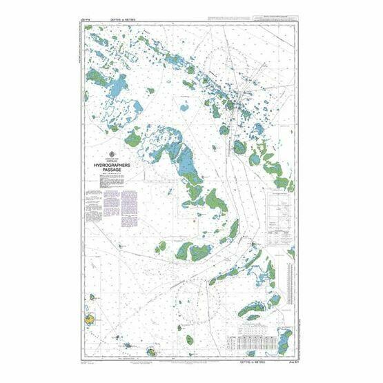 AUS821 Hydrographers Passage Admiralty Chart