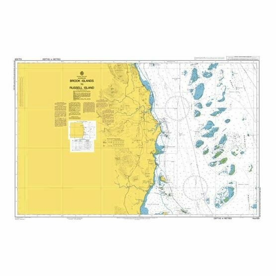 AUS829 Brook Islands to Russell Island Admiralty Chart