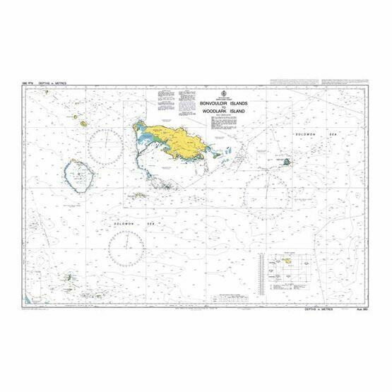 AUS383 Bonvouloir Islands to Woodlark Island Admiralty Chart