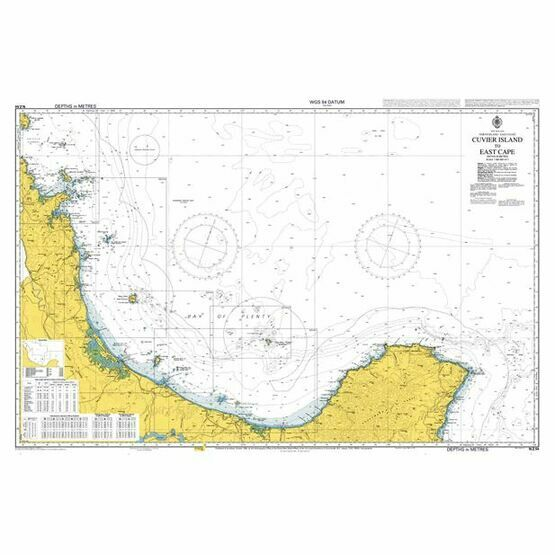 NZ54 Cuvier Island to East Cape Admiralty Chart