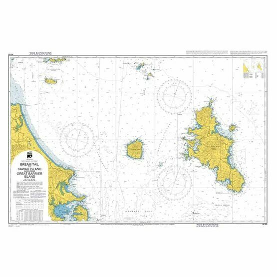 NZ522 Bream Tail to Kawau Island-Great Barrier Island Admiralty Chart