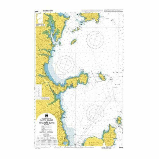 NZ5321 Kawau Island to Rangitoto Island Admiralty Chart