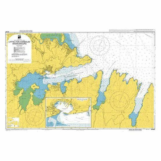 NZ6321 Lyttelton Harbour/Whakaraupo Admiralty Chart