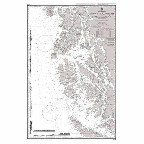 1282 Estrecho de Magallanes to Canal Concepcion Admiralty Chart