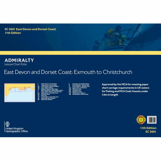 SC5601 East Devon and Dorset Coast Admiralty Leisure Folio