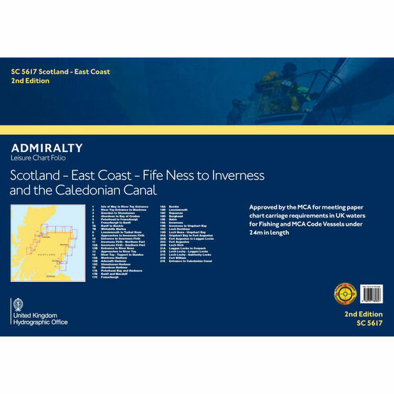 SC5617 Scotland East Coast: Fife Ness to Inverness & the Caledonian Canal Admiralty Leisure Folio