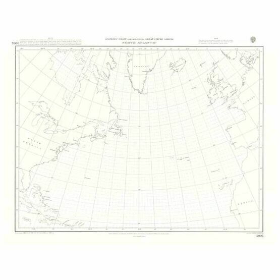 5095 North Atlantic Ocean Gnomonic Admiralty Chart