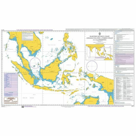 Q6113 Maritime Admiralty Security Chart, Andaman Islands to Torres Strait