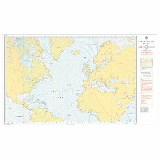 Admiralty 5375 Magnetic Variation, 2005 & Annual Rates of Change - N. Atlantic Ocean & Mediterranean Sea
