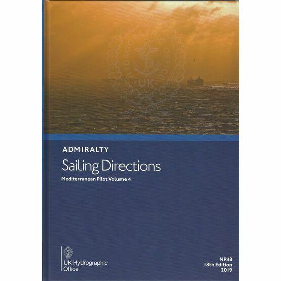 Admiralty Sailing Directions NP48 Mediterranean Pilot Volume 4