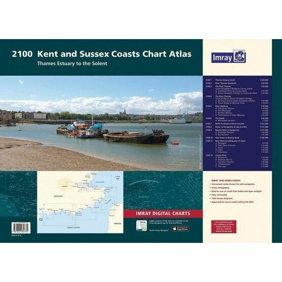 Imray 2100 Kent & Sussex Coasts Chart Atlas