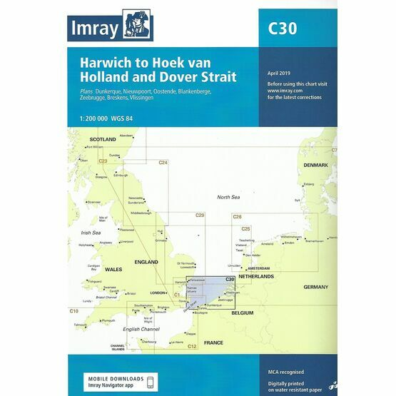 Imray Chart C30: Harwich to Hoek van Holland and Dover Strait