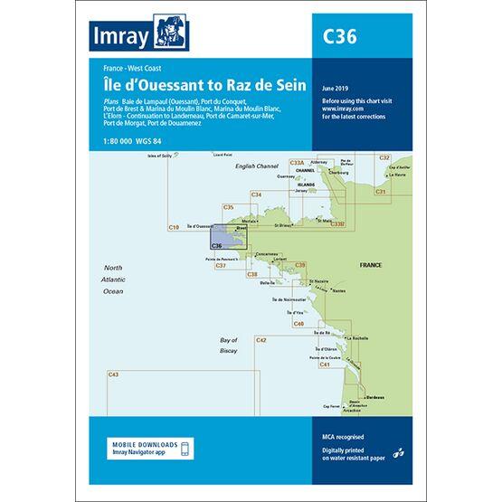 Imray Chart C36: Ile d\'Ouessant to Raz de Sein