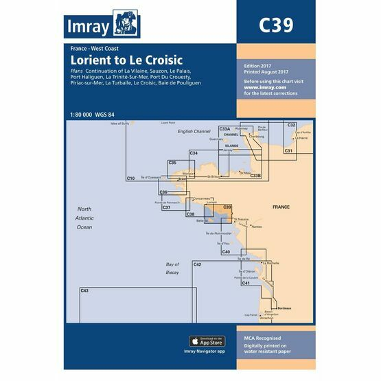Imray Chart C39 Lorient to Le Croisic