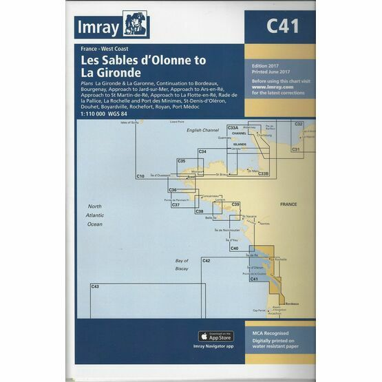 Imray Chart C41 Les Sables d'Olonne to La Gironde