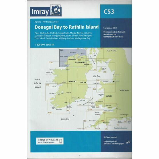 Imray Chart C53: Donegal Bay to Rathlin Island