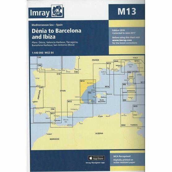 Imray Chart M13: Denia to Barcelona & Ibiza