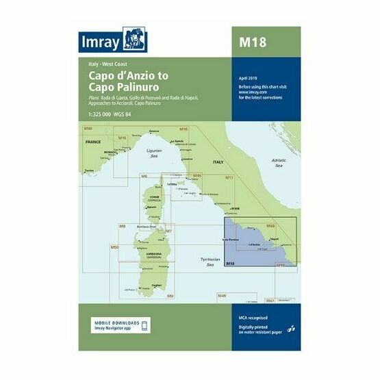 Imray Chart M18: Capo d'Anzio to Capo Palinuro