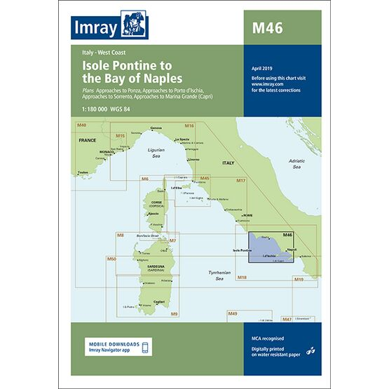 Imray Chart M46: Isole Pontine to the Bay of Naples