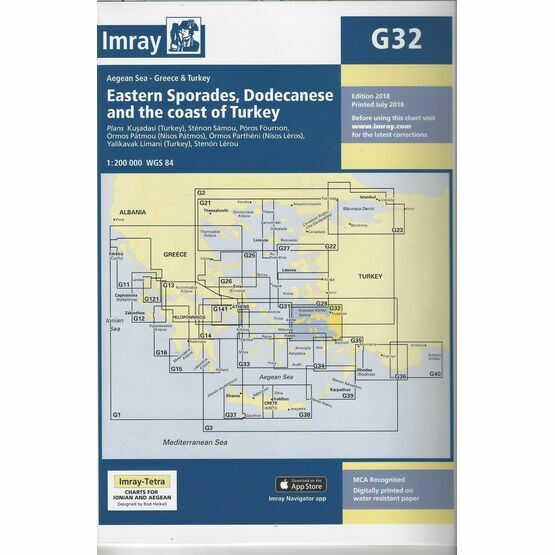 Imray Chart G32: Eastern Sporades, Dodecanese & the Coast of Turkey
