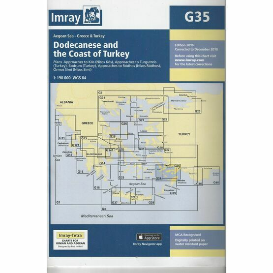 Imray Chart G35: Dodecanese and the Coast of Turkey