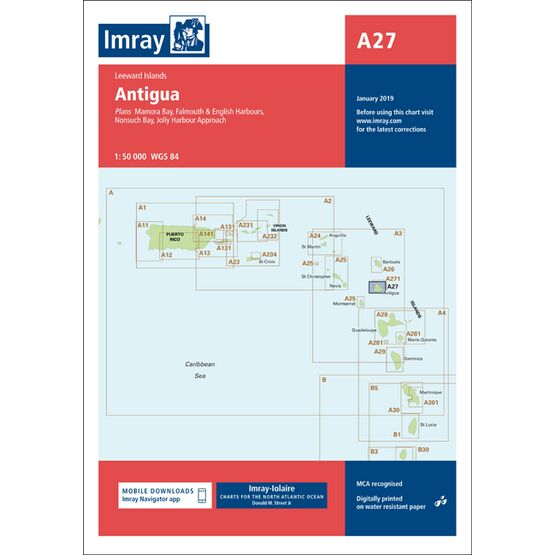 Imray Chart A27: Antigua