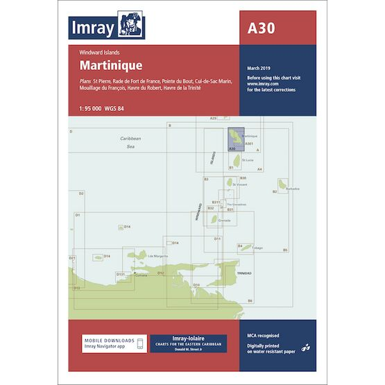 Imray Chart A30: Martinique