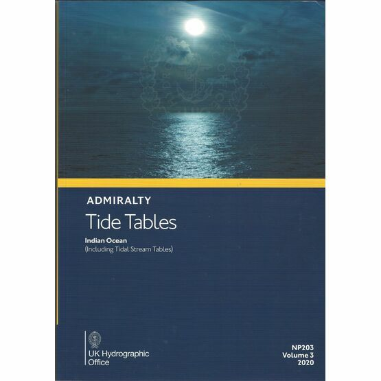 Admiralty NP203 Tide Tables 2020 : Indian Ocean (Volume 3)