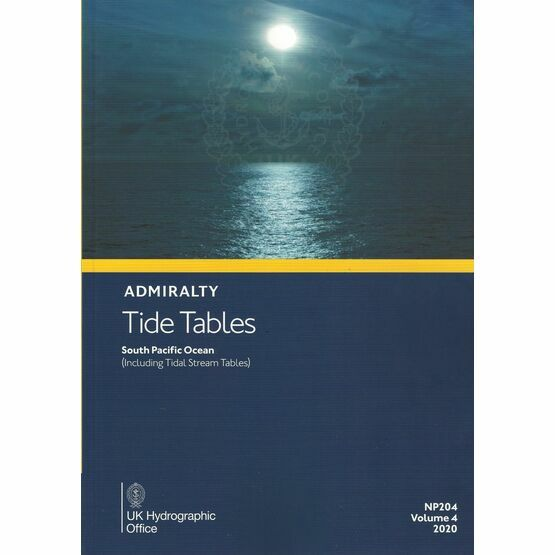 Admiralty NP204 Tide Tables 2020: South Pacific Ocean (Volume 4)