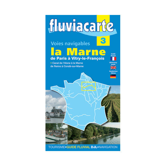 Imray Fluviacarte 3: La Marne - Paris to Vitry-le-Francois