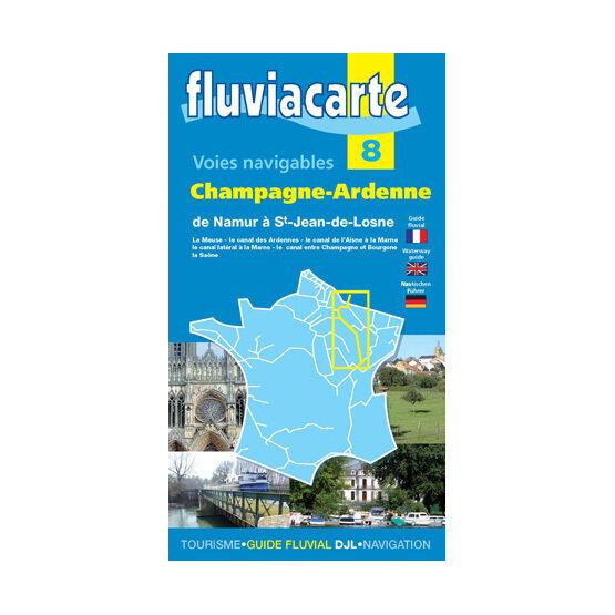 Fluviacarte No. 8. Champagne - Ardenne Guide
