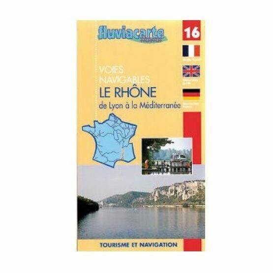 Imray Fluviacarte No. 16 Le Rhone - Lyon - Mediterranean Guide